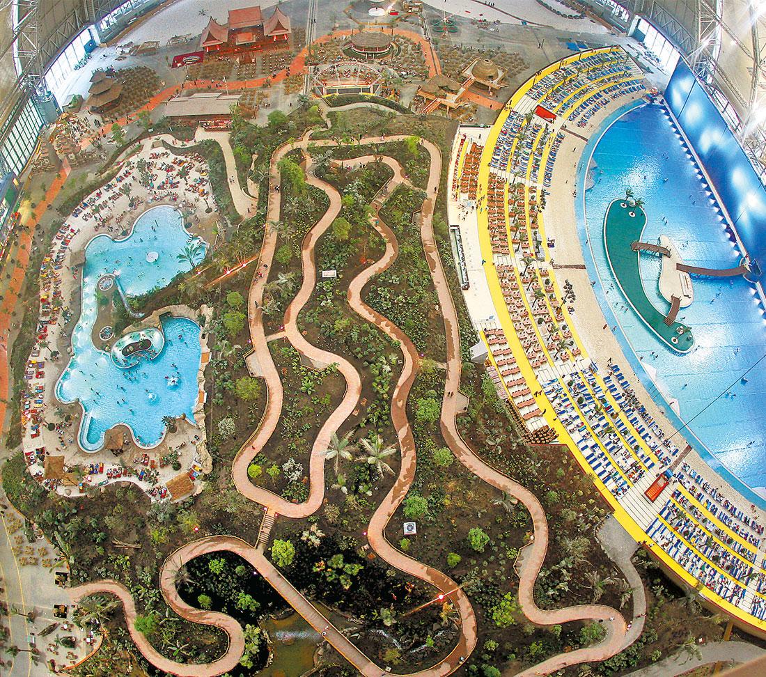 Tropical islands berlin germany zeller pool construction - Indoor swimming pool berlin ...
